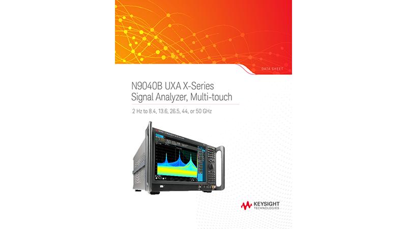 N9040B UXA X-Series Signal Analyzer, Multi-touch
