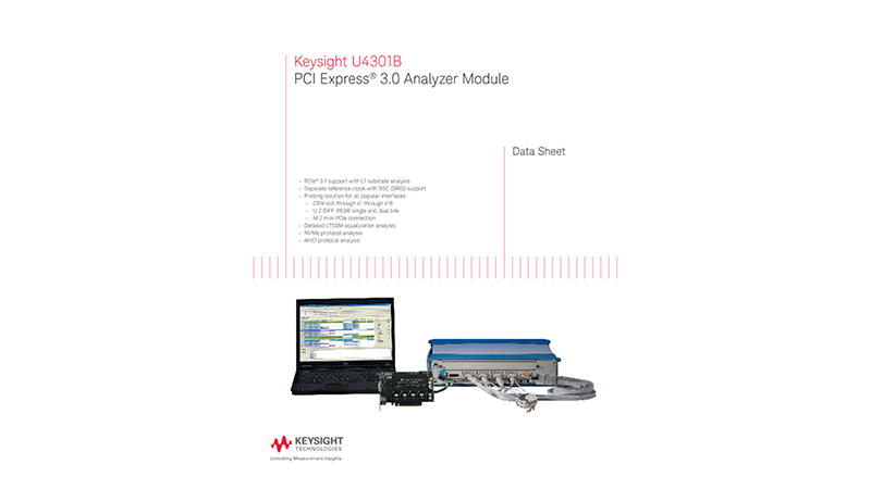 U4301B PCI Express® 3.0 Analyzer Module