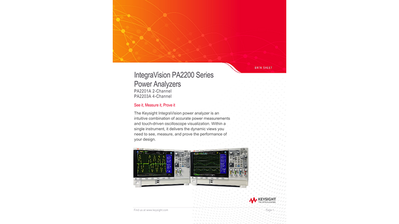 IntegraVision PA2200 Series Power Analyzers