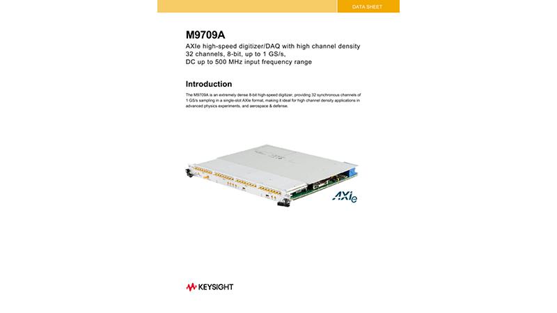 M9709A AXIe High-Speed Digitizer/DAQ with High Channel Density