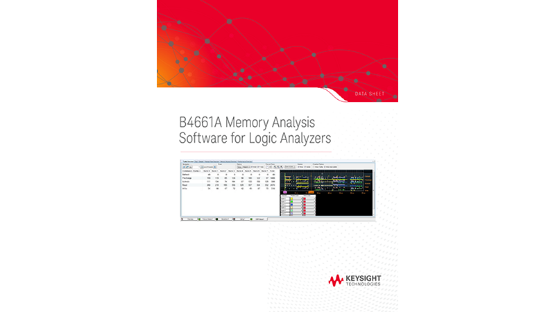 B4661A Memory Analysis Software for Logic Analyzers
