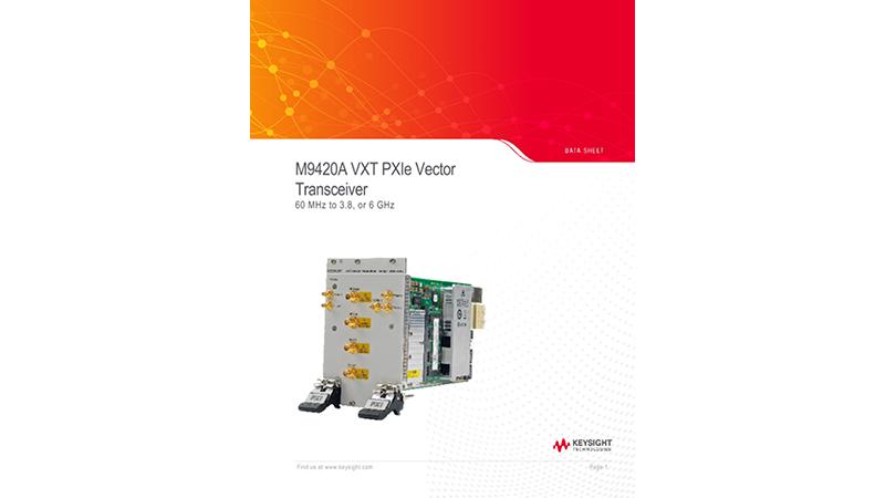 M9420A VXT PXIe Vector Transceiver