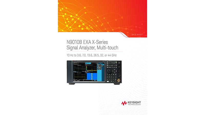 N9010B EXA X-Series Signal Analyzer, Multi-touch