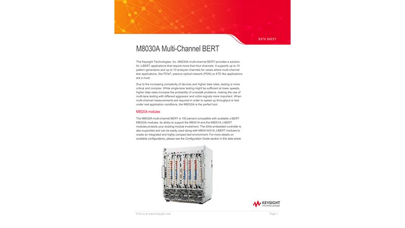 M8030A Multi-Channel BERT