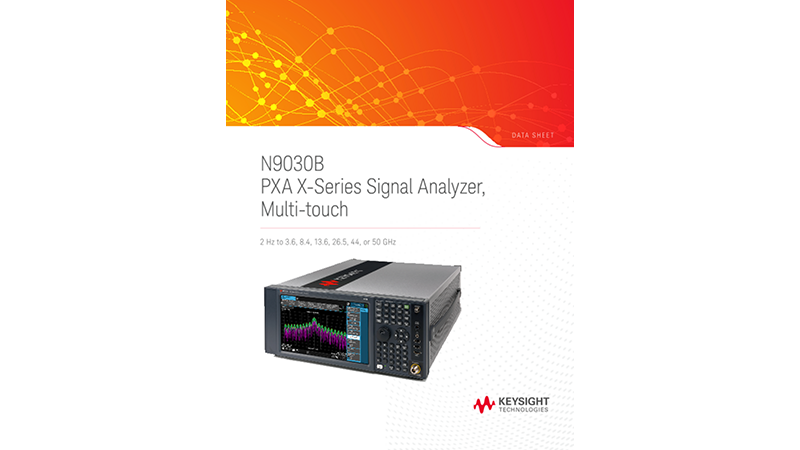 N9030B PXA X-Series Signal Analyzer, Multi-touch