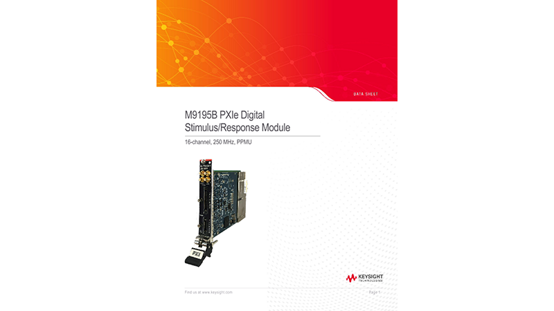 M9195B PXIe Digital Stimulus/Response Module