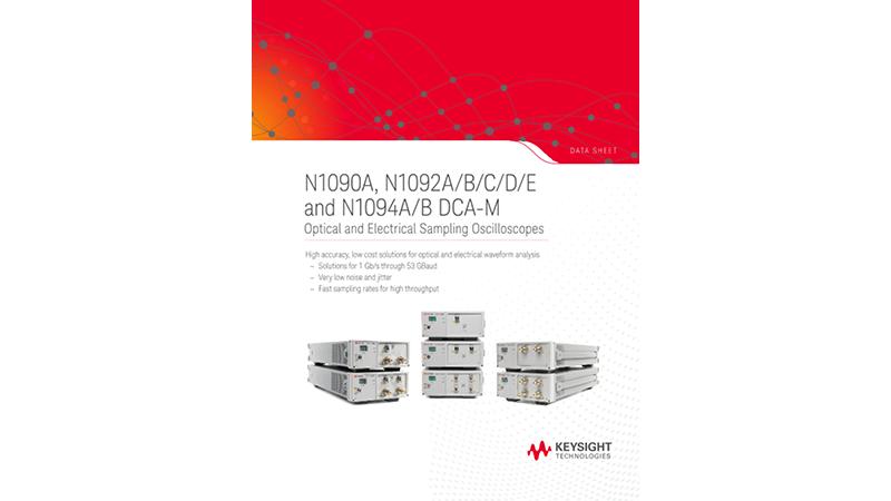 N1090A, N1092A/B/C/D/E and N1094A/B DCA-M Optical and Electrical Sampling Oscilloscopes