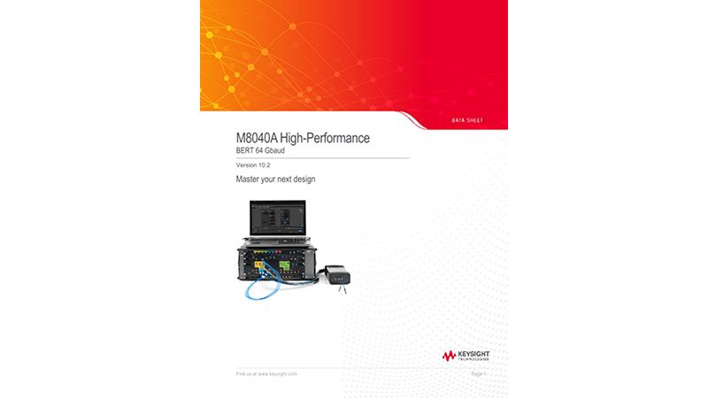 M8040A High-Performance BERT 64 Gbaud Version 7.5