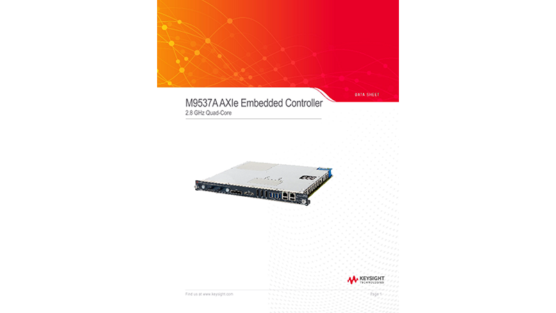 M9537A AXIe Embedded Controller