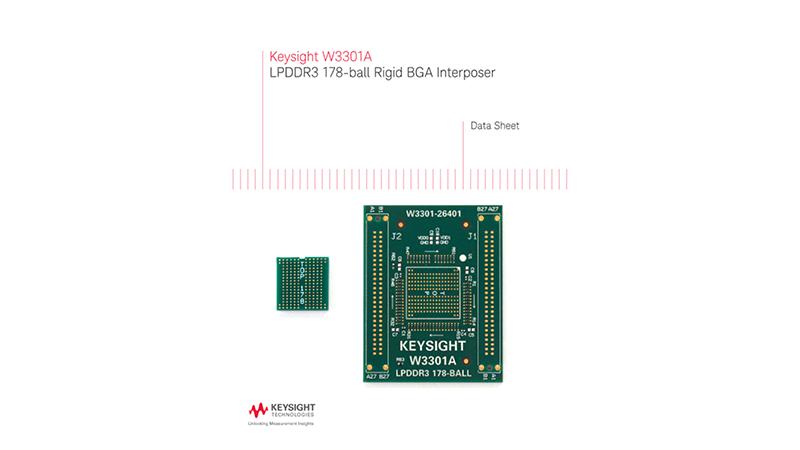 W3301A LPDDR3 178-ball Rigid BGA Interposer