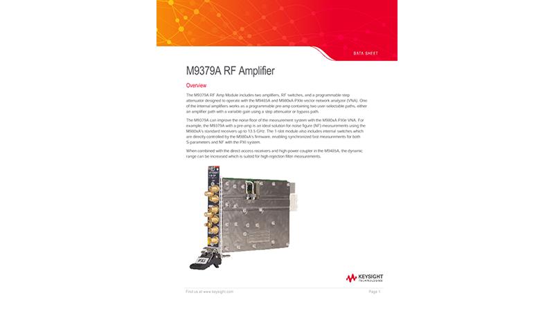 M9379A RF Amplifier