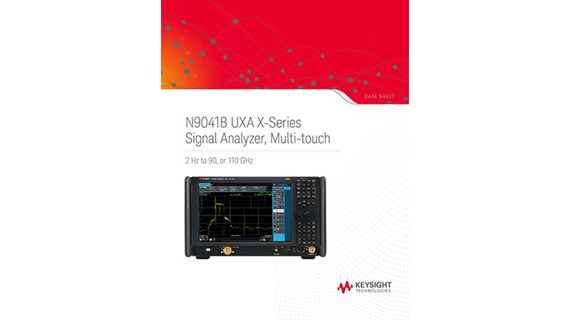 N9020B MXA X-Series Signal Analyzer, Multi-touch