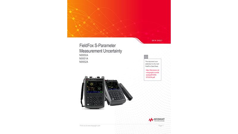 FieldFox S-parameter Measurement Uncertainty
