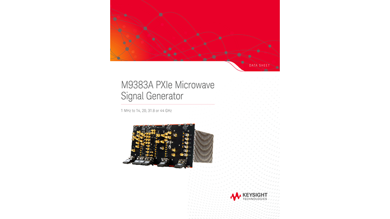 M9383A PXIe Microwave Signal Generator