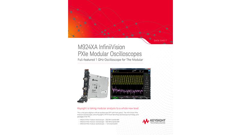 M924XA InfiniiVision PXIe Modular Oscilloscopes