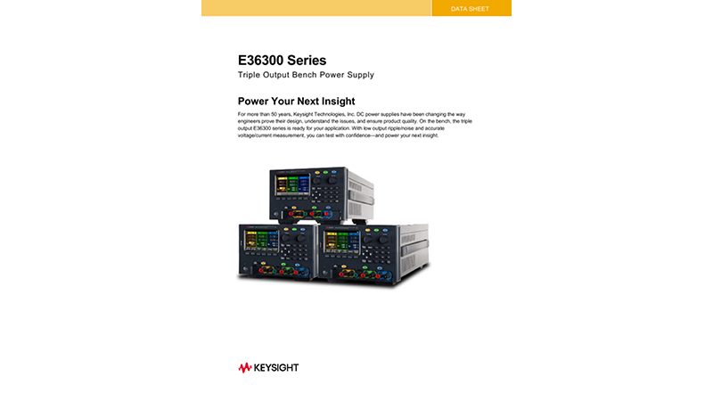 E36300 Series Triple Output Bench Power Supply