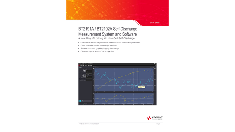 BT2191A / BT2192A Self-Discharge Measurement System and Software