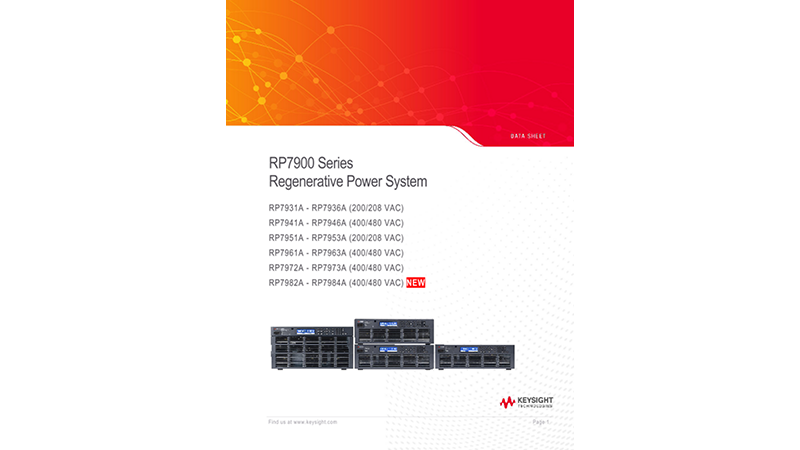 RP7900 Series Regenerative Power System