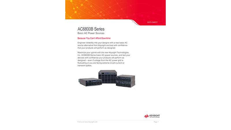 AC6800B Series Basic AC Power Sources