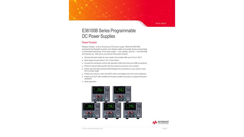 E36100B Series Programmable DC Power Supplies