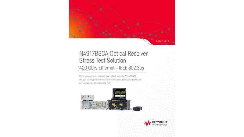 N4917BSCA Optical Receiver Stress Test Solution