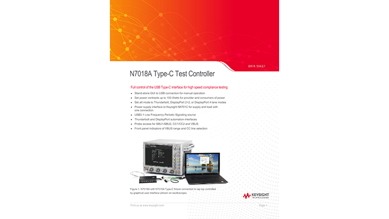 N7018A Type-C Test Controller