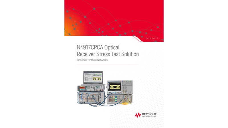 N4917CPCA Optical Receiver Stress Test Solution