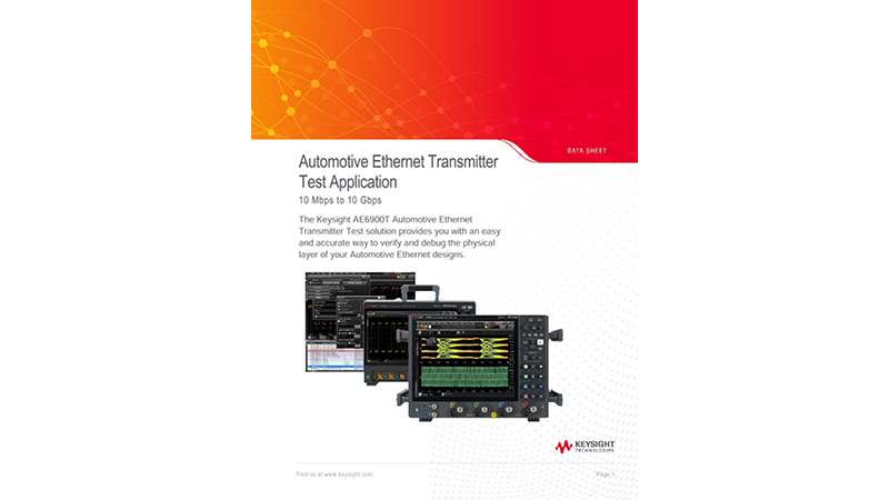 Automotive Ethernet Transmitter Test Application