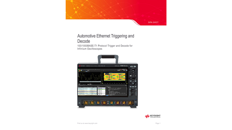 Automotive Ethernet Triggering and Decode