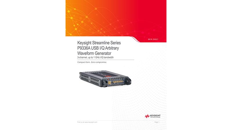Streamline Series P9336A USB I/Q Arbitrary Waveform Generator Generator