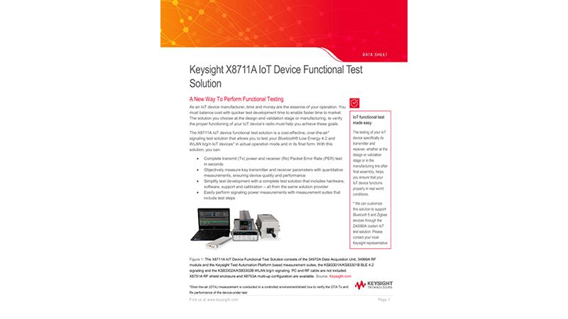 X8711A IoT Device Functional Test Solution