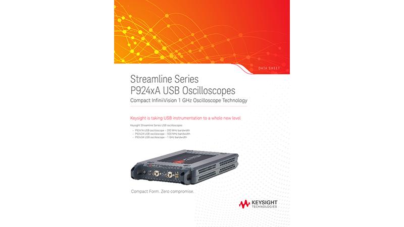 Streamline Series P924xA USB Oscilloscopes