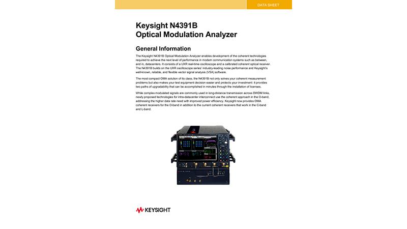 N4391B Optical Modulation Analyzer