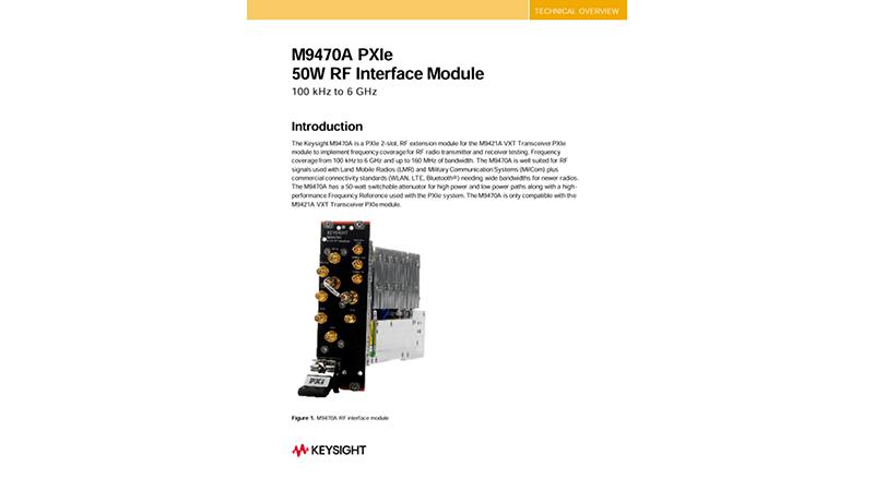 M9470A PXIe 50W RF Interface Module