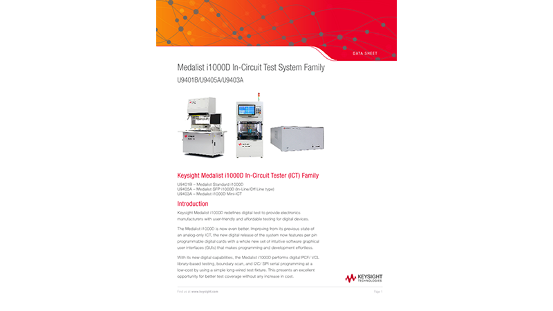 Medalist i1000D In-Circuit Test System Family