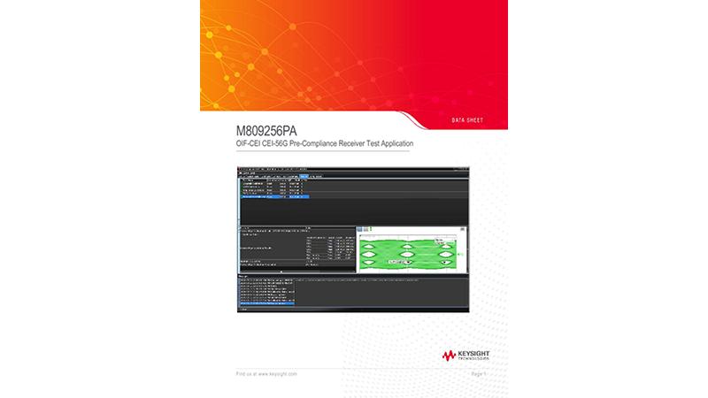 M809256PA-OIF-CEI CEI-56G Pre-Compliance Receiver Test Application
