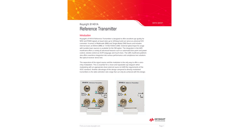 81491A Reference Transmitter