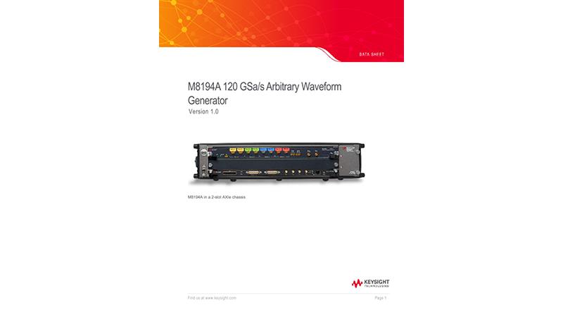 M8194A 120 GSa/s Arbitrary Waveform Generator