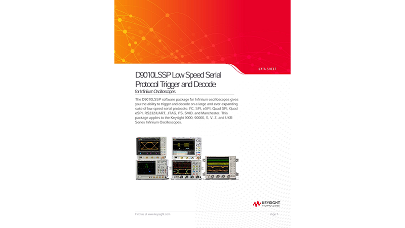 D9010LSSP Low Speed Serial Protocol Trigger and Decode