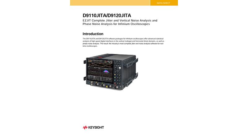 D90x0JITA Jitter, Vertical Noise, and Phase Noise Analysis for Infiniium Oscilloscopes
