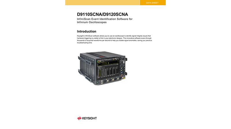 D90x0SCNA InfiniiScan Event Identification Software Data Sheet