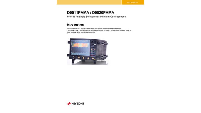 D9010PAMA PAM-N Analysis Software Data Sheet