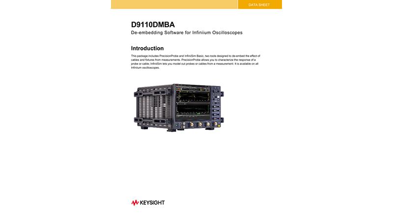 D9010DMBA De-Embedding Software Data Sheet