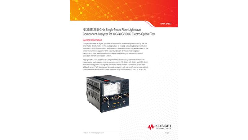 26.5 GHz Single-Mode Fiber Lightwave Component Analyzer