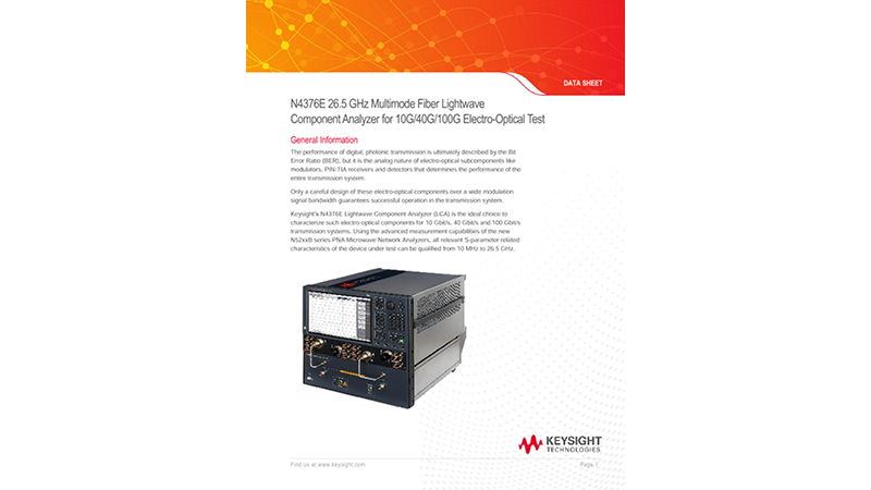 26.5 GHz Multimode Fiber Lightwave Component Analyzer