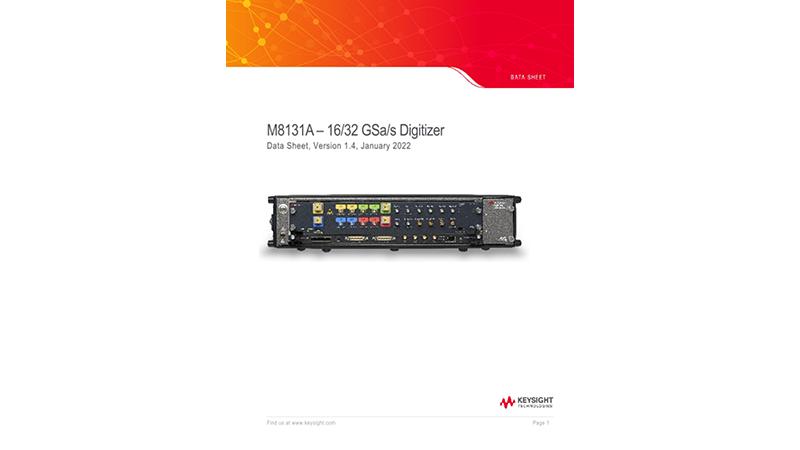 M8131A – 16/32 GSa/s Digitizer