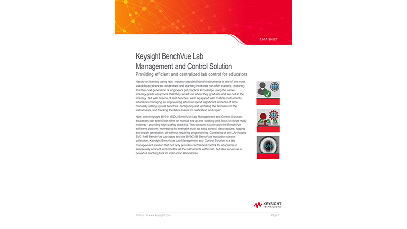 Keysight BenchVue Lab Management and Control Solution