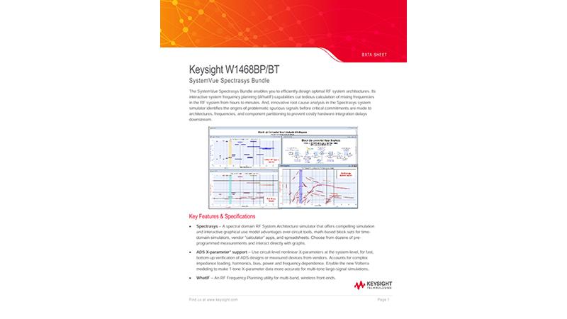Keysight W1468BP SystemVue Spectrasys Bundle