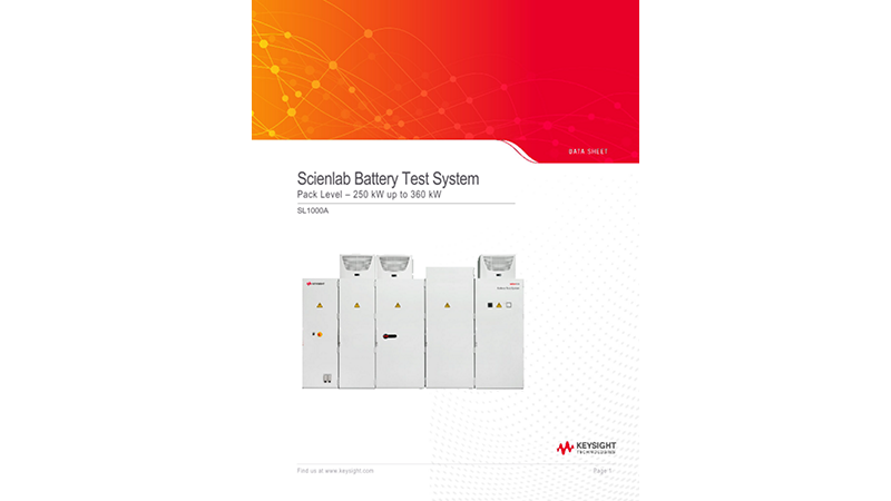 Scienlab Battery Test System - Pack Level 360 kW