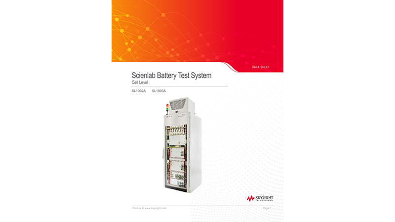 SL1002A/SL1003A Scienlab Battery Test System – Cell Level